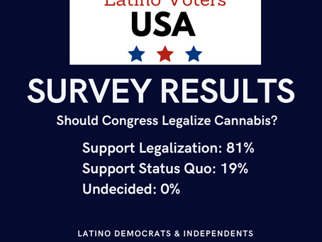 Latina/o Dems & Independents Support Federal Cannabis Legalization!