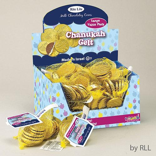Large Bag of Chanukah Gelt Milk Chocolate Coins