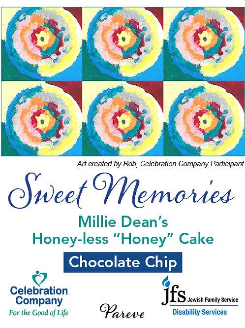 """Chocolate Chip Honey-less """"Honey"""" Cake"""