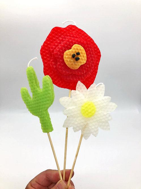 Flower Power Candles