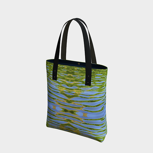 """""""Reflecting Leaves"""" Lined Totebag"""