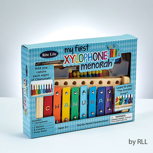 """My First Xylophone"" Wood Menorah"