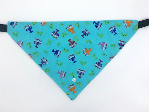 Chanukah Menorah Pet Bandana
