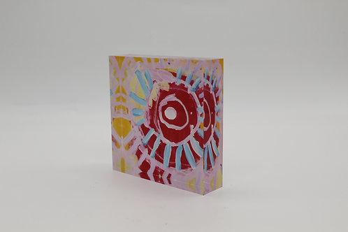 """Rays""Acrylic Block"