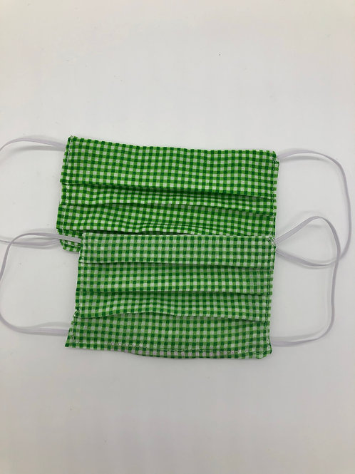 Gingham Child Sized Face Masks