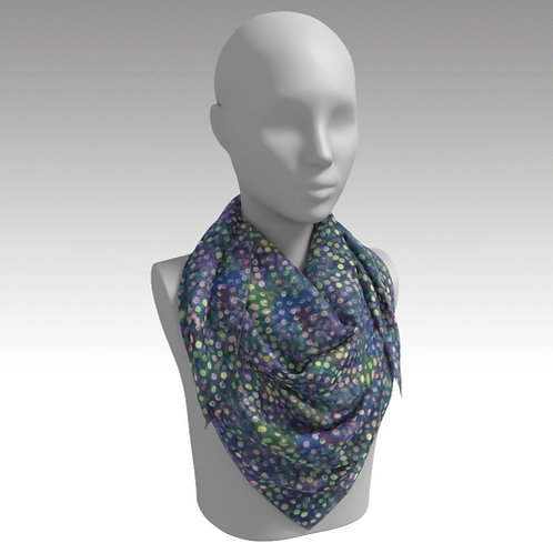 """""""Flowering Dots"""" Square Scarf"""