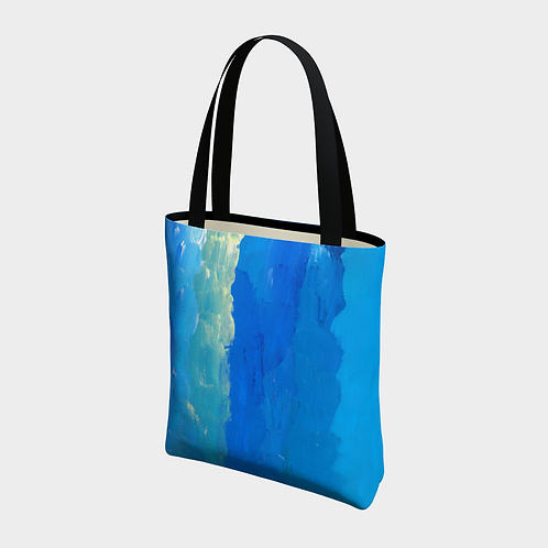 """""""Four Colors"""" Lined Totebag"""
