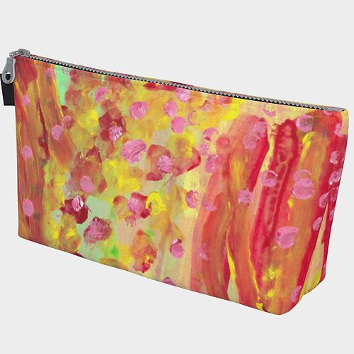 """Coral"" Makeup Bag"
