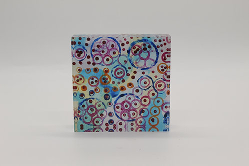 """All Things Round"" Acrylic Block"