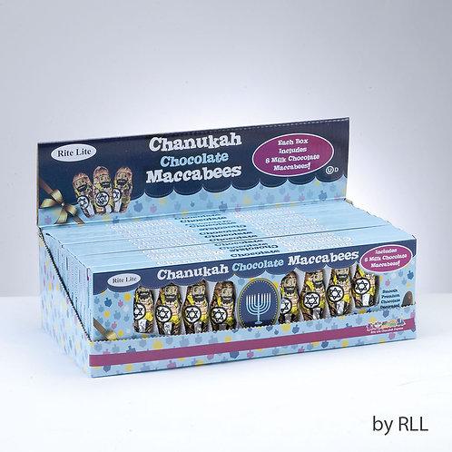 Set of 8 Milk Chocolate Maccabees Per Gift Box