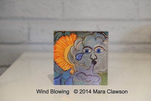 Wind Blowing Acrylic Block
