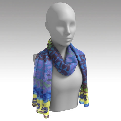 """Fair Square and Seven N's"" Long Scarf"