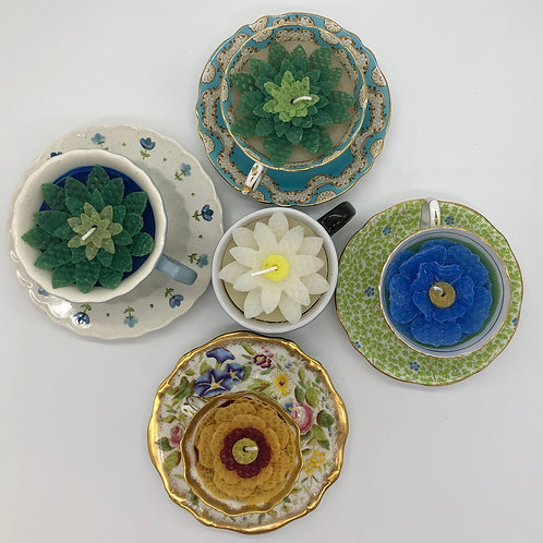 One-of-a-kind Teacup Candles