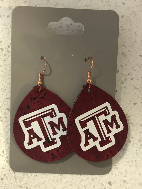 Kat's Kreations Leather Aggie Earrings