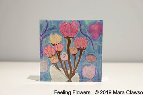 Feeling Flowers Acrylic Block