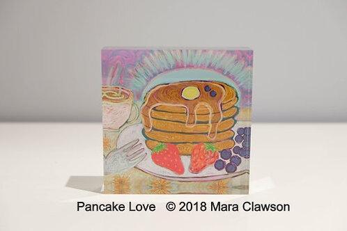 Pancake Love Acrylic Block