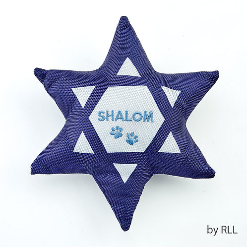 Chewdaica™ 'Shalom' Star of David Squeaky Dog Toy