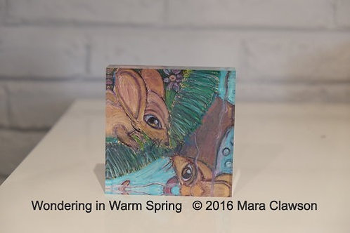 Wondering in Warm Spring Acrylic Block