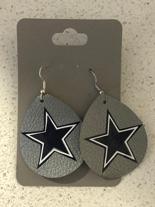 Kat's Kreations Leather Cowboy Earrings