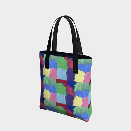 """Squared Rainbow"" Lined Totebag"