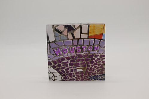 """Houston"" Acrylic Block"