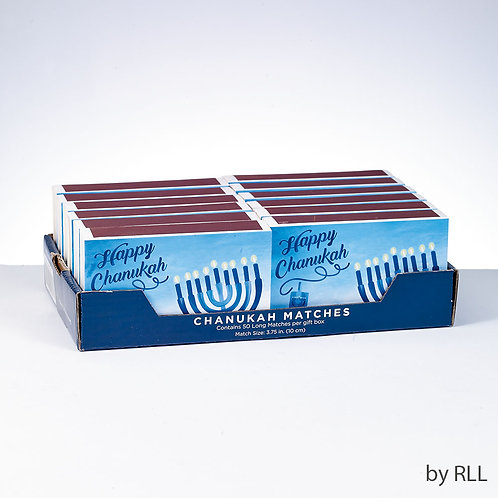 Chanukah Matches in Rectangular Gift Box