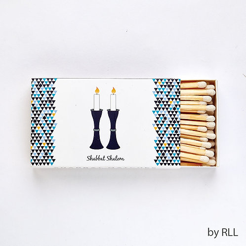 Shabbat Shalom Matches Rectangle Box