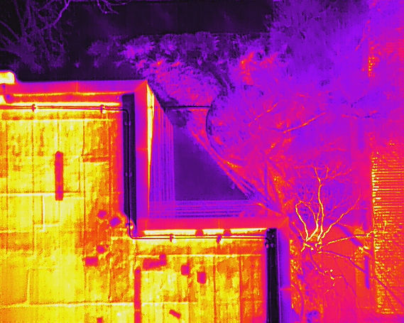 Aerial thermal imaging building and roof