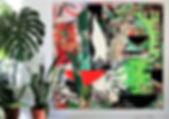 """Aplantiam by Teresa Bosko 2017 MDF Worktop painting 48""""x48"""" Big Art 'bout Plants"""