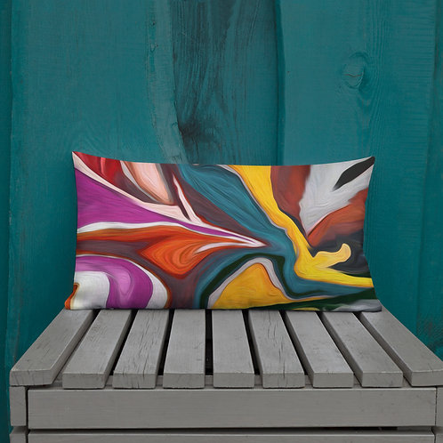 Modern Colorful Abstract Swirl Premium Pillow