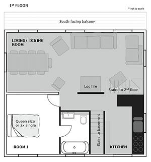 Floor plan - 1st floor - Chalet Isobel