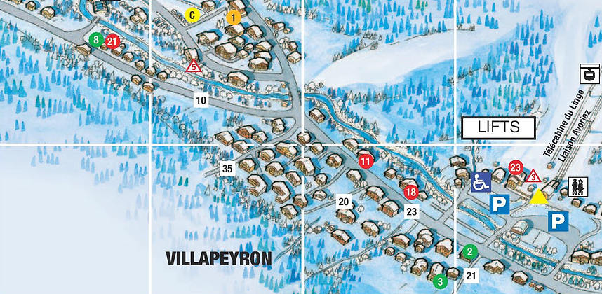 Chalet Isobel - Chatel resort map