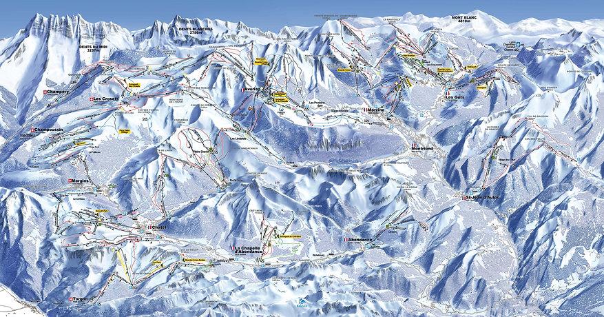 Chalet Isobel - Portes du Soleil piste map