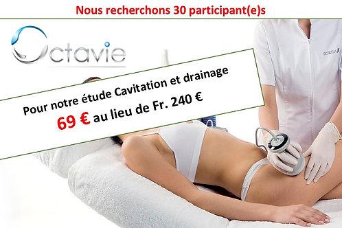 Étude Octavie Cavitation et drainage 69€ au lieu de 240€