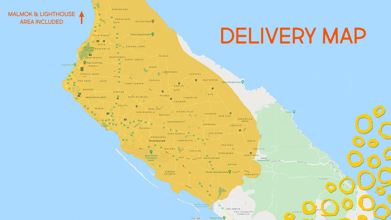 Delivery zone Cuminda Na Cas