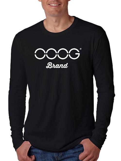 OOOG Long Sleeves Men's T-Shirt - White / Gold Print Combo