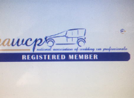 And....we became so professional becoming members of the National Association of Wedding Car  Profes