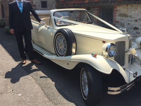 A great week for Brooklands Wedding Cars Sussex....a new driver out for his first run in the sun...