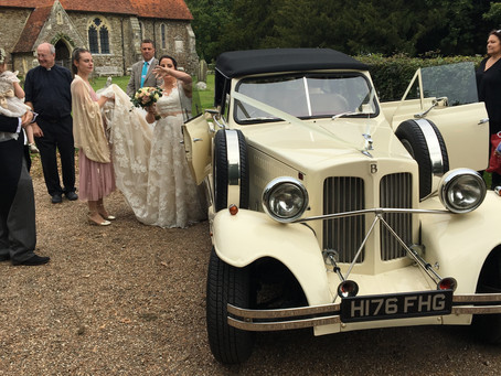 Congrats to Petra and Garry today....oh and their driver. Lovely day in and around Rye.