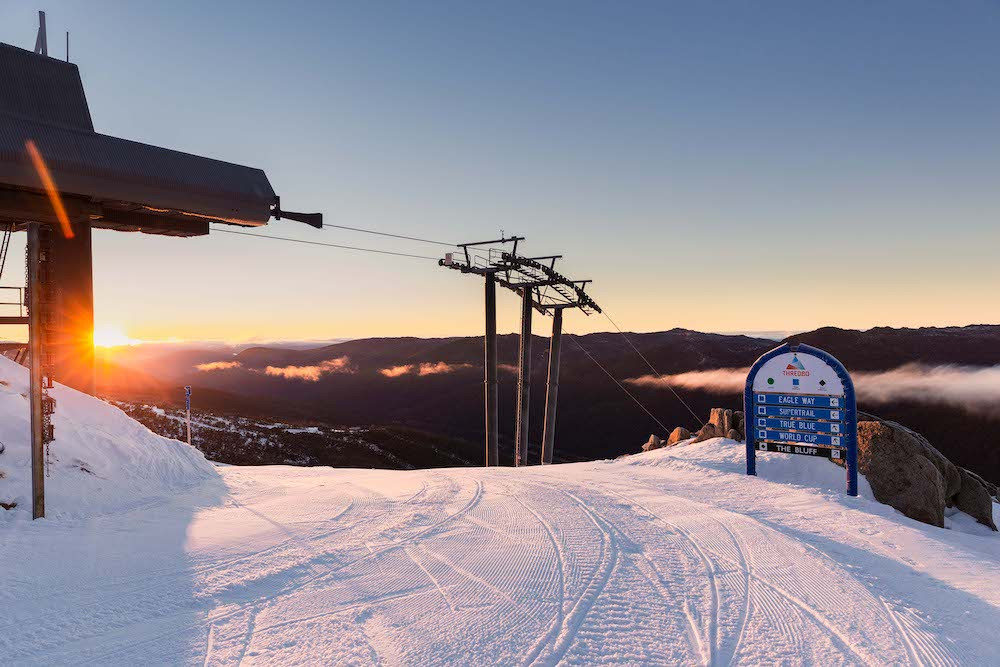 Sunrise at Thredbo