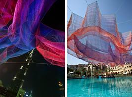 11 echelman art installation, dubai mall