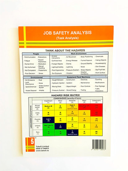 Job Safety Analysis (JSA) Pad