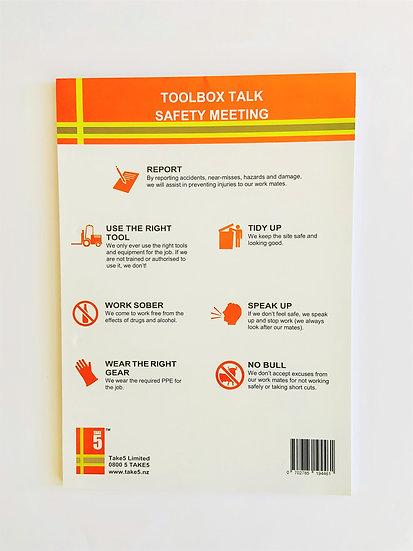 Safety Meeting/Toolbox Talk Pad