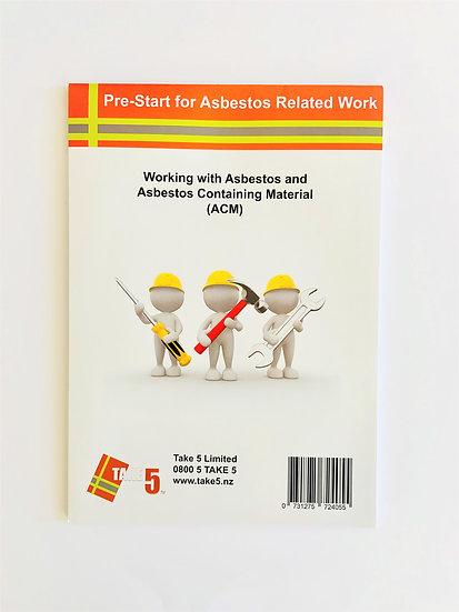 Asbestos - Pre-Start For Asbestos Related Work A4 50 Leaf