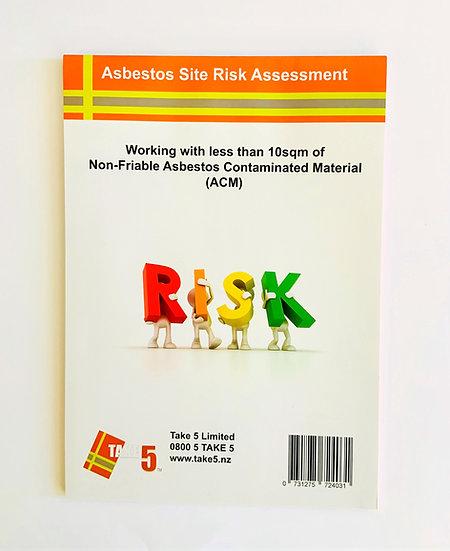 Asbestos Risk Assessment Pad