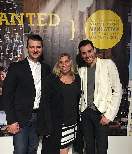 Lisa Hendrickson with Fashion Star designer Daniel Silverstein and his partner Ryan