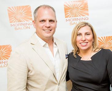 Lisa Hendrickson of Morning Salon and Rick Kilmer, President of FLOR