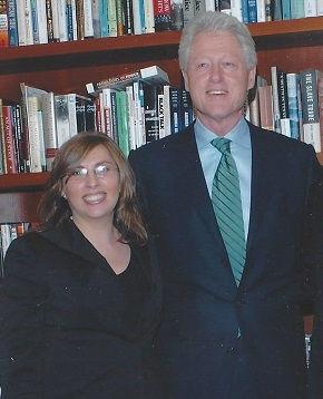 Bill Clinton and Urban Enterprise Grant Winner Lisa Hendrickson