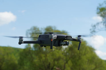 Friedhofsvermessun mit Drohn