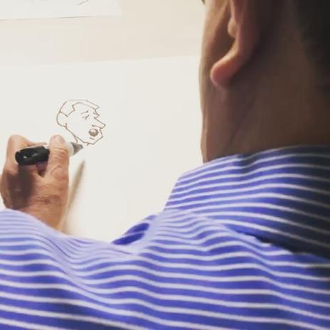 """Grabando un video de """"La mano"""" del maest"""